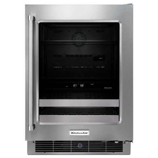 "Model: KUBR304ESS | KitchenAid 24"" Stainless Steel Beverage Center with SatinGlide® Metal-Front Racks"