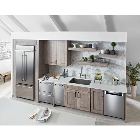"Model: KUDF204ESB | KitchenAid 24"" Stainless Steel Refrigerator/Freezer Drawer"