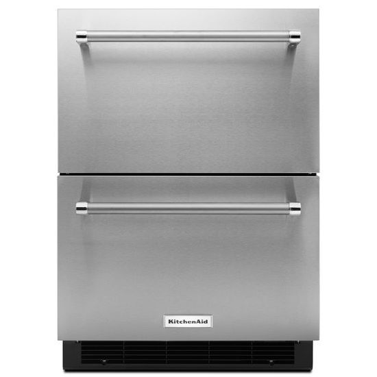 "KitchenAid 24"" Stainless Steel Double Refrigerator Drawer"