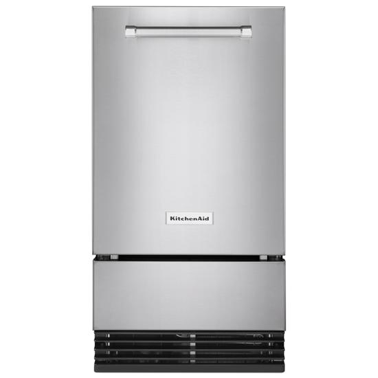 Model: KUID308HPS | KitchenAid KitchenAid® 18'' Automatic Ice Maker with PrintShield™ Finish