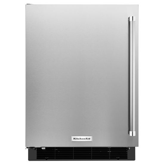 "KitchenAid 24"" Undercounter Refrigerator with Stainless Steel Door"
