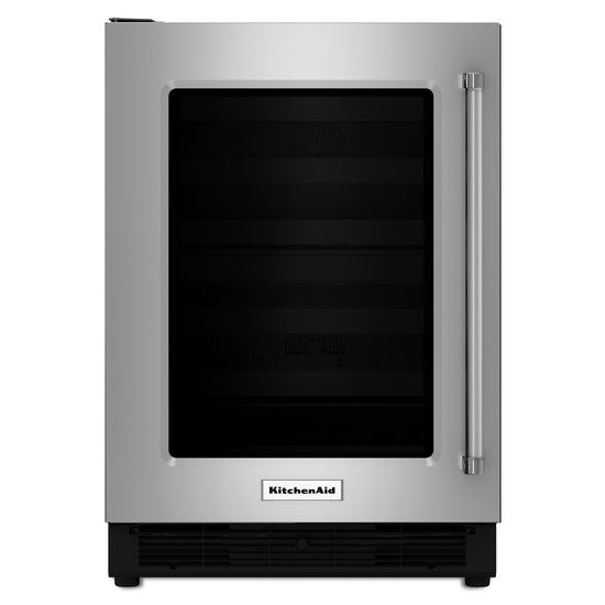 "KitchenAid 24"" Undercounter Refrigerator with Glass Door"