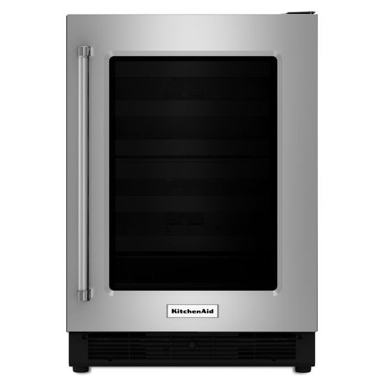 "Model: KURR204ESB | KitchenAid 24"" Undercounter Refrigerator with Glass Door"