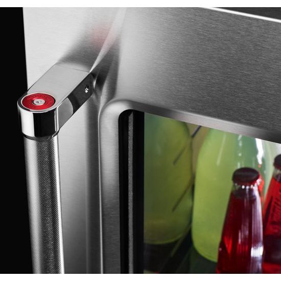 "Model: KURR304ESS | KitchenAid 24"" Undercounter Refrigerator with Glass Door and Metal Trim Shelves"
