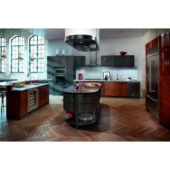 "Model: KUWL304ESS   KitchenAid 24"" Wine Cellar with Glass Door and Metal-Front Racks"