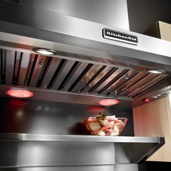 Model: KXW9736YSS | KitchenAid 36'' Wall-Mount 600-1200 CFM Canopy Hood, Commercial-Style