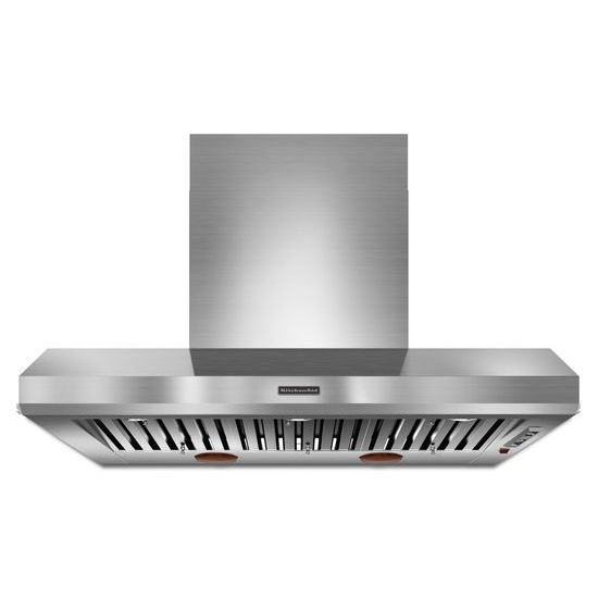 KitchenAid 48'' Wall-Mount 600-1200 CFM Canopy Hood, Commercial-Style