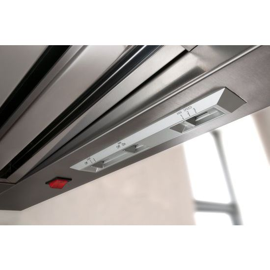 Model: KXW9748YSS | KitchenAid 48'' Wall-Mount 600-1200 CFM Canopy Hood, Commercial-Style