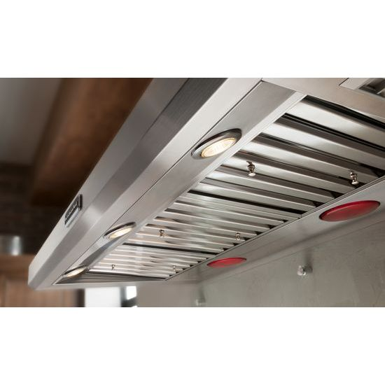 Model: KXW9748YSS | 48'' Wall-Mount 600-1200 CFM Canopy Hood, Commercial-Style