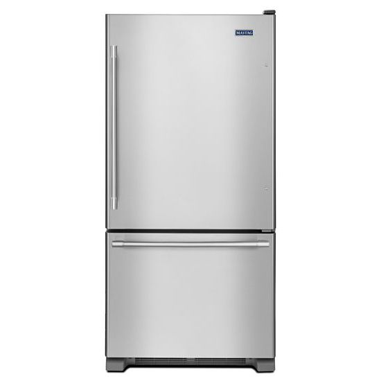 Maytag 33-Inch Wide Bottom Mount Refrigerator - 22 Cu. Ft.