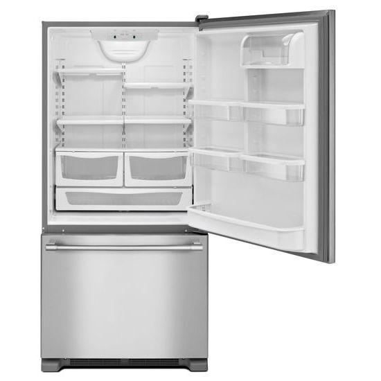 Model: MBF2258FEZ | Maytag 33-Inch Wide Bottom Mount Refrigerator - 22 Cu. Ft.