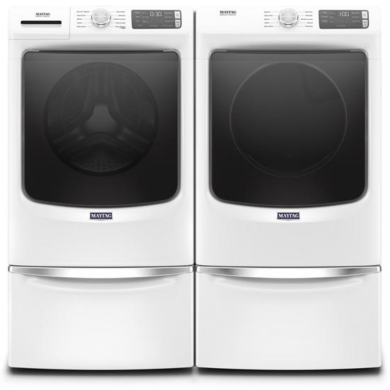 Model: MED5630HW | Maytag Front Load Electric Dryer with Extra Power and Quick Dry cycle - 7.3 cu. ft.