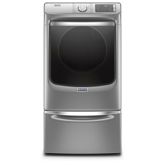 Model: MED8630HC | Maytag Smart Front Load Electric Dryer with Extra Power and Advanced Moisture Sensing with industry-exclusive extra moisture sensor - 7.3 cu. ft.