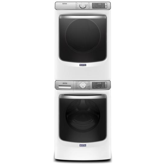 Model: MED8630HW | Maytag Smart Front Load Electric Dryer with Extra Power and Advanced Moisture Sensing with industry-exclusive extra moisture sensor - 7.3 cu. ft.