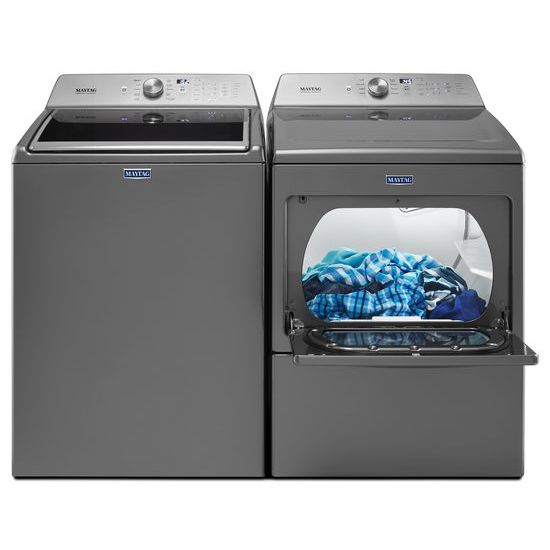 Model: MEDB765FC | Maytag Large Capacity Electric Dryer with IntelliDry® Sensor – 7.4 cu. ft.