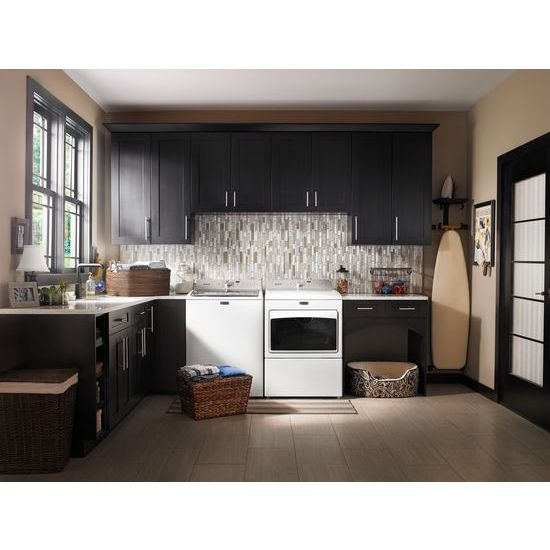Model: MEDB765FW | Maytag Large Capacity Electric Dryer with IntelliDry® Sensor – 7.4 cu. ft.