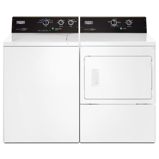 Model: MEDP575GW | Maytag 7.4 cu. ft. Commercial-Grade Residential Electric Dryer