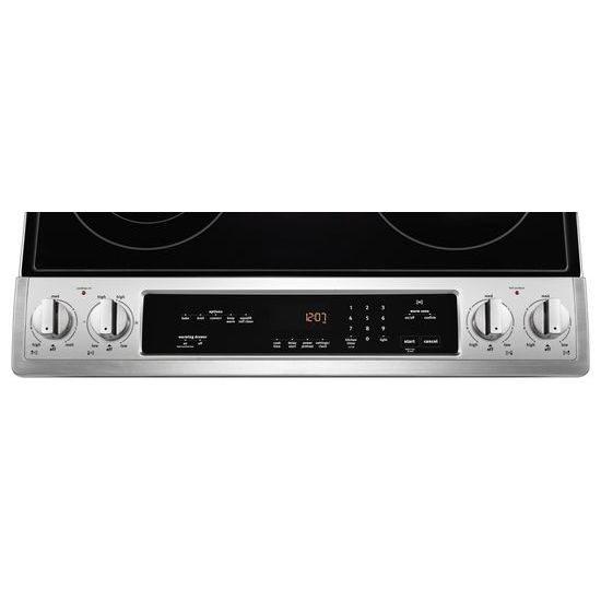 Model: MES8800FZ   Maytag 30-Inch Wide Slide-In Electric Range With True Convection And Fit System - 6.4 Cu. Ft.