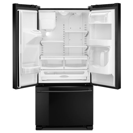 Model: MFI2269FRB | Maytag 33- Inch Wide French Door Refrigerator with Beverage Chiller™ Compartment - 22 Cu. Ft.