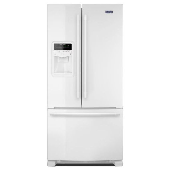 Maytag 33- Inch Wide French Door Refrigerator with Beverage Chiller™ Compartment - 22 Cu. Ft.