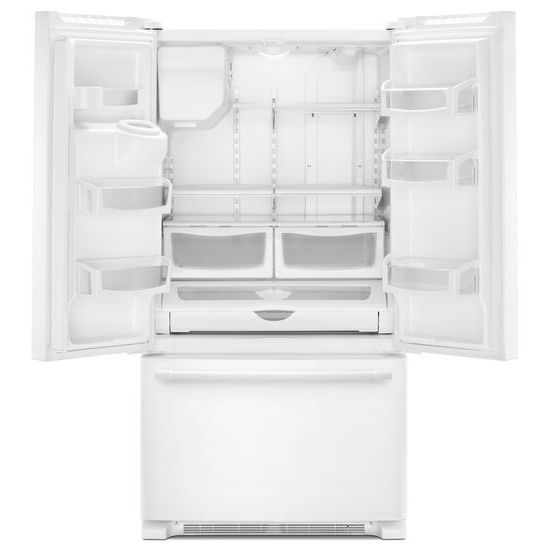 Model: MFI2570FEW | Maytag 36- Inch Wide French Door Refrigerator with PowerCold® Feature - 25 Cu. Ft.