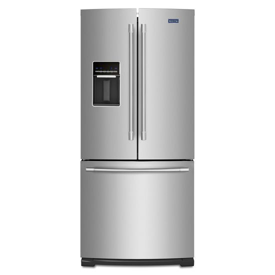 Maytag 30-Inch Wide French Door Refrigerator with Exterior Water Dispenser- 20 Cu. Ft.