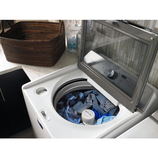 Model: MGDB765FW | Maytag Large Capacity Gas Dryer with IntelliDry® Sensor – 7.4 cu. ft.