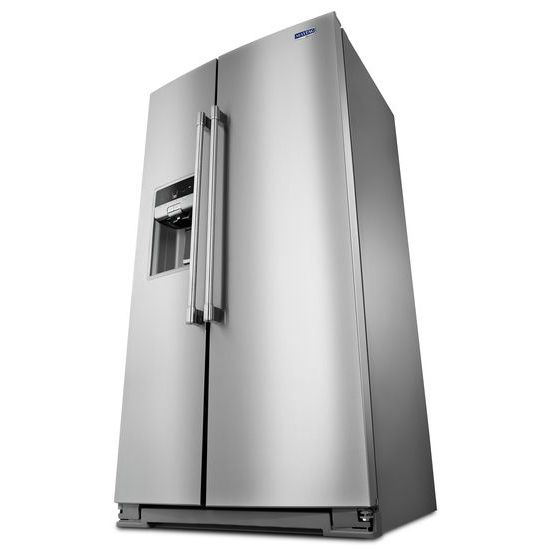 Model: MSC21C6MFZ | Maytag 36- Inch Wide Counter Depth Side-by-Side Refrigerator- 21 Cu. Ft.