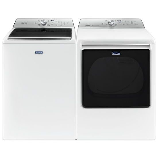 Model: MVWB865GW | Top Load Washer with the Deep Fill Option and PowerWash® Cycle – 5.2 cu. ft.