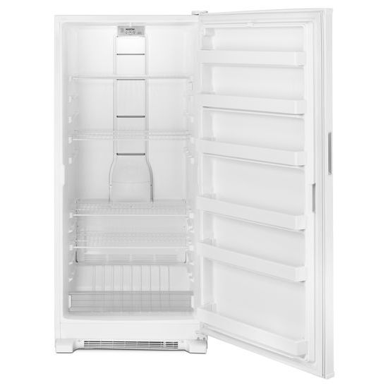 Model: MZF34X18FW | Maytag 18 cu. ft. Frost Free Upright Freezer with LED Lighting