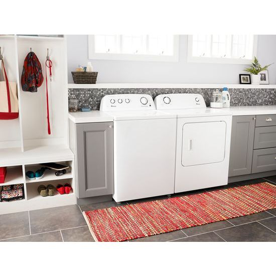 Model: NGD4655EW | Amana 6.5 cu. ft. Gas Dryer with Wrinkle Prevent Option