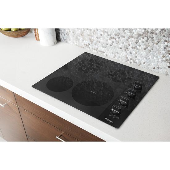 Model: WCE55US4HB | Whirlpool 24-inch Compact Electric Ceramic Glass Cooktop