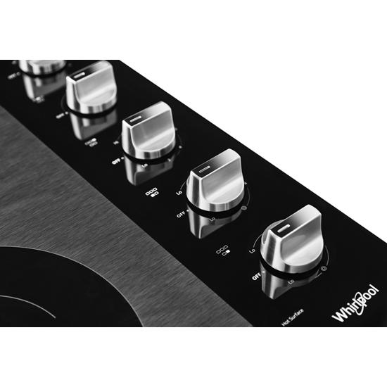 Model: WCE77US0HS | Whirlpool 30-inch Electric Ceramic Glass Cooktop with Two Dual Radiant Elements