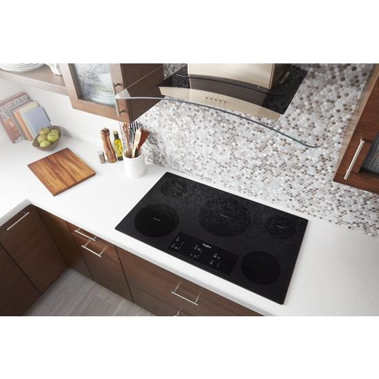 Model: WCE97US6HB | 36-inch Electric Ceramic Glass Cooktop with Triple Radiant Element