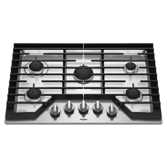 Model: WCG77US0HS | 30-inch Gas Cooktop with EZ-2-Lift™ Hinged Cast-Iron Grates