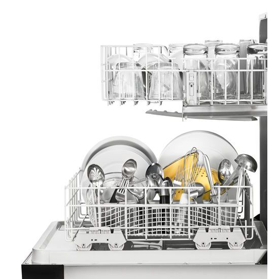 Model: WDF130PAHS | Whirlpool Heavy-Duty Dishwasher with 1-Hour Wash Cycle