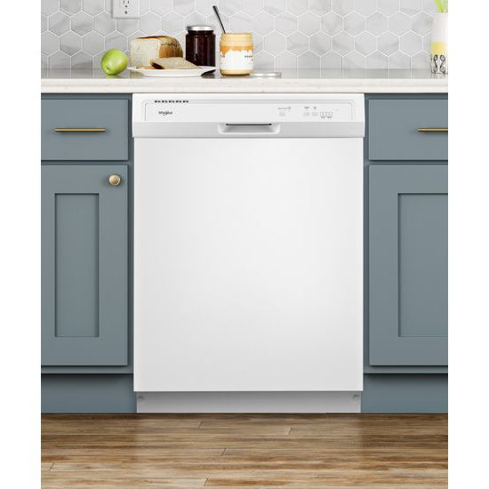 Model: WDF130PAHW | Whirlpool Heavy-Duty Dishwasher with 1-Hour Wash Cycle