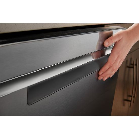 Model: WDTA50SAHZ | Whirlpool Stainless Steel Tub Pocket Handle Dishwasher with TotalCoverage Spray Arm