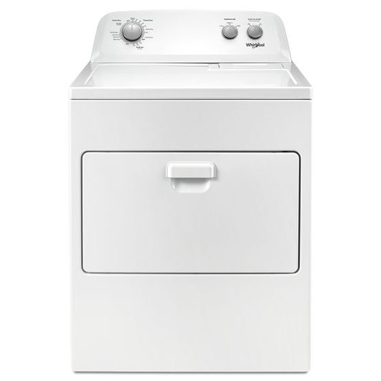 Model: WED4850HW | Whirlpool 7.0 cu. ft. Top Load Electric Dryer with AutoDry™ Drying System