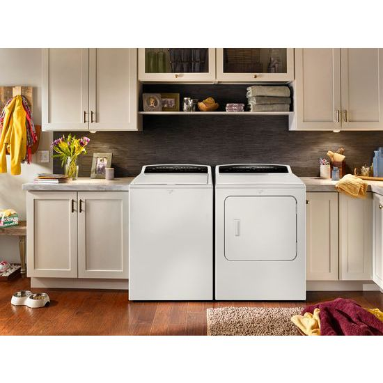 Model: WED7000DW | Whirlpool 7.0 cu.ft Top Load HE Electric Dryer with AccuDry™, Intuitive Touch Controls
