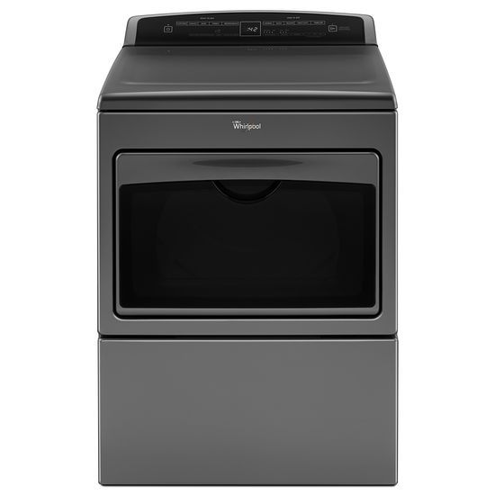 Model: WED7500GC | Whirlpool 7.4 cu.ft Top Load HE Electric Dryer with AccuDry™ , Intuitive Touch Controls