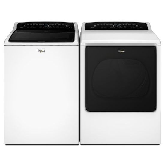 Model: WED8000DW | Whirlpool 8.8 cu.ft Top Load HE Electric Dryer with Advanced Moisture Sensing, Intuitive Touch Controls