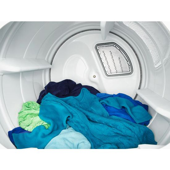 Model: WED8500DC | 8.8 cu.ft Top Load HE Electric Dryer with Intuitive Touch Controls, Steam Refresh
