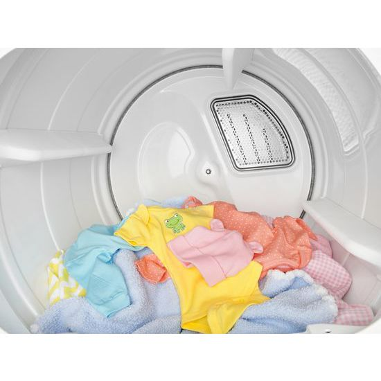 Model: WED8500DW | 8.8 cu.ft Top Load HE Electric Dryer with Intuitive Touch Controls, Steam Refresh