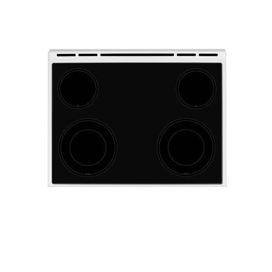 Model: WEE510S0FW | Whirlpool 4.8 cu. ft. Guided Electric Front Control Range With The Easy-Wipe Ceramic Glass Cooktop