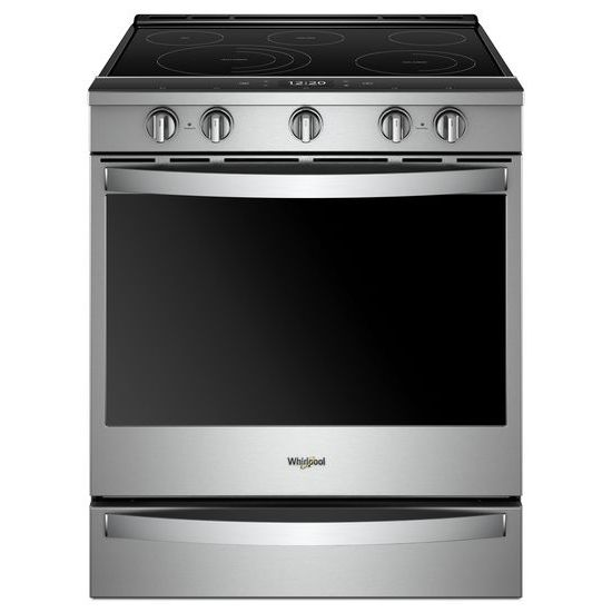 Whirlpool 6.4 cu. ft. Smart Slide-in Electric Range with Scan-to-Cook Technology