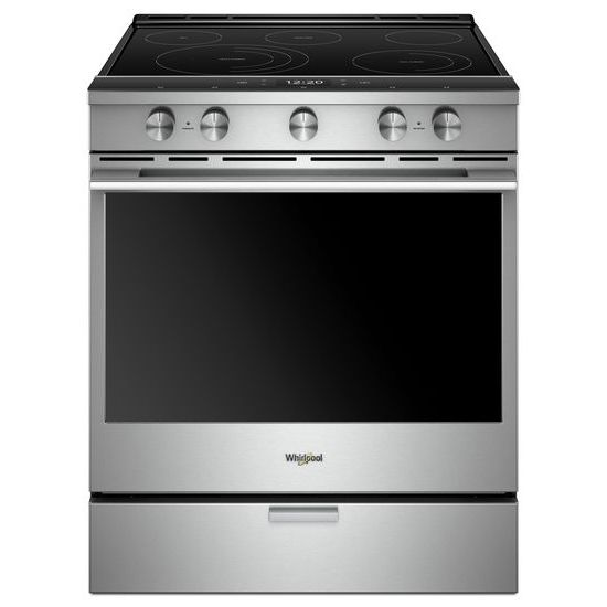 Model: WEEA25H0HZ | Whirlpool 6.4 cu. ft. Smart Slide-in Electric Range with Scan-to-Cook Technology