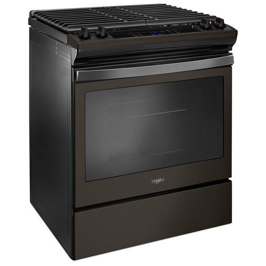 Model: WEG515S0FV | 5.0 cu. ft. Front Control Gas Range with Cast-Iron Grates