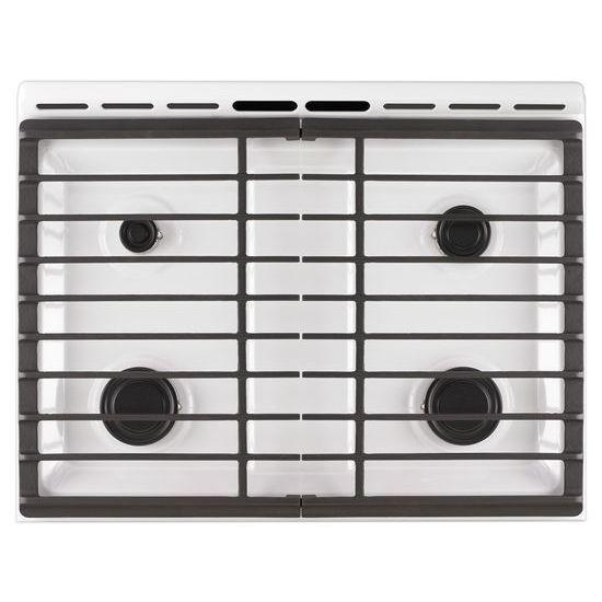 Model: WEG515S0FW   Whirlpool 5.0 cu. ft. Front Control Gas Range with Cast-Iron Grates