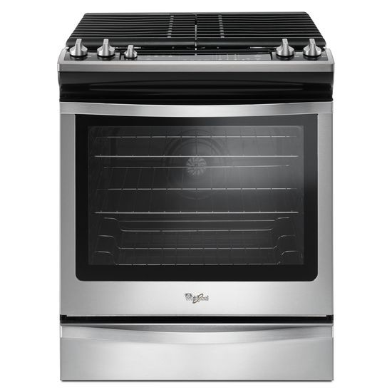 Whirlpool 5.8 Cu. Ft. Slide-In Gas Range with EZ-2-Lift™ Hinged Grates